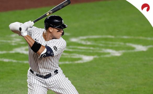 Aaron Judge prepared to swing the baseball bat