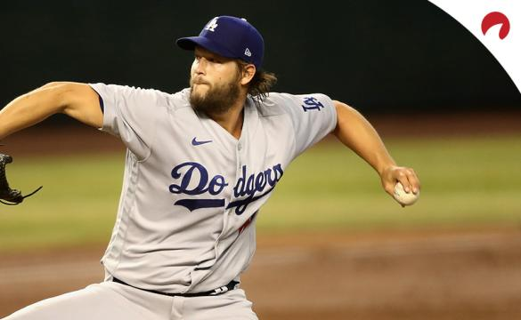 Clayton Kershaw in the process of throwing a pitch