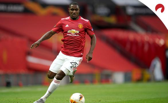 Manchester United's Odion Ighalo prepared to kick the soccer ball