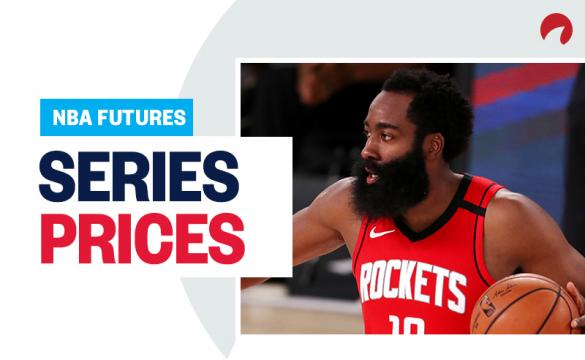 NBA Playoffs Series Prices - August 14 2020 James Harden dribbling up the court