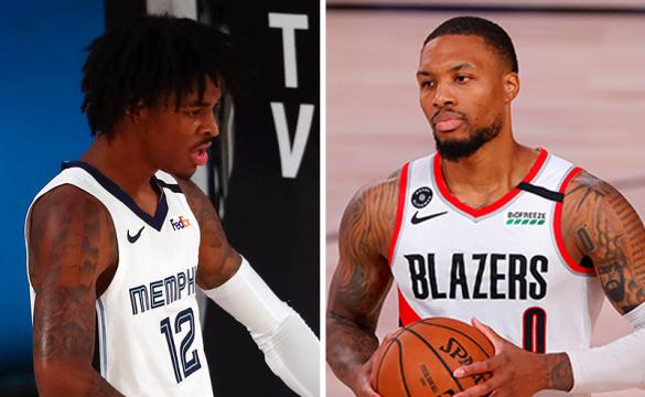 Western Conference 8-seed Odds August 14 2020 Ja Morant and Damian Lillard
