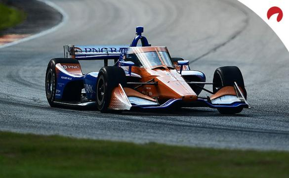Scott Dixon, driver of the #9 PNC Bank Ganassi Racing Honda, races during the NTT IndyCar Series Rev Group Grand Prix Race 1.