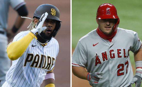 MLB MVP Betting Odds August 28 2020 Fernando Tatis Mike Trout