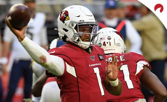 Kyler Murray of the Arizona Cardinals throws the ball against the Los Angeles Rams at State Farm Stadium on December 1, 2019 in NFL action in Glendale, Arizona.