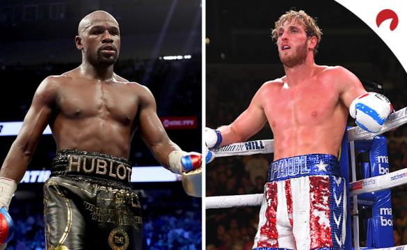 Logan Paul (right) vs Floyd Mayweather (left) odds have been released, with the pair scheduled for a boxing match on February 20.