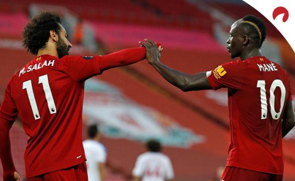 English Premier League Betting Odds Mo Salah and Salvio Mane celebrating a goal