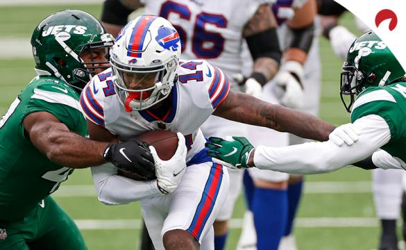 Buffalo Bills wide receiver Stefon Diggs (14) in action during an NFL football game against the New York Jets on Sunday, Oct. 25, 2020, in East Rutherford, N.J.