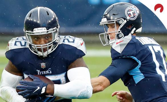 Titans vs Bengals Betting Odds November 1 Derrick Henry carrying the football