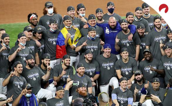 World Series 2021 Betting Odds Los Angeles Dodgers celebrating winning the 2020 World Series