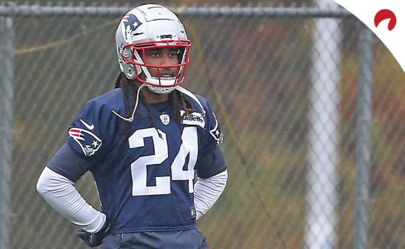 Stephon Gilmore at practice with the New England Patriots