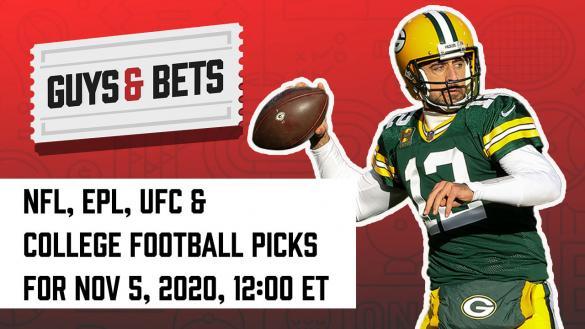 Odds Shark Guys & Bets Joe Osborne Andrew Avery Pamela Maldonado NFL College Football Premier League UFC Betting Odds Tips Picks Predictions Aaron Rodgers Green Bay Packers