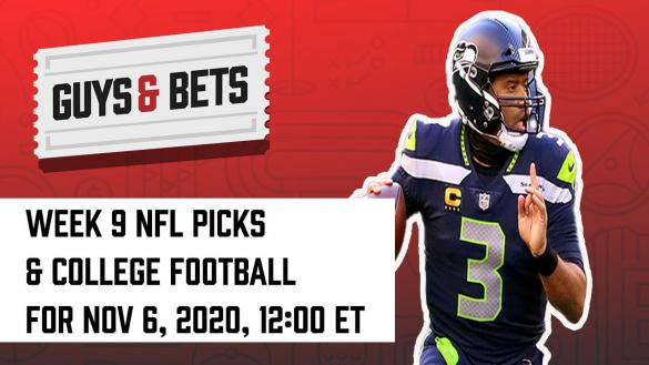 Odds Shark Guys & Bets Joe Osborne Andrew Avery NFL College Football Betting Odds Tips Picks Predictions Russell Wilson