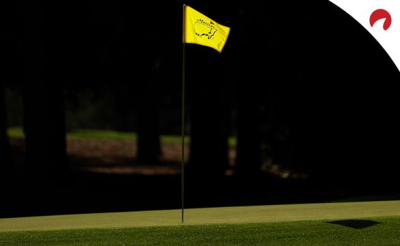 A flag is displayed at Augusta National Golf Club in Augusta, Georgia prior to the 2020 Masters.