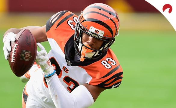 Tyler Boyd (83) of the Cincinnati Bengals carries the ball during an NFL football game against the Washington Football Team at FedExField on November 22, 2020, in Landover, Maryland.