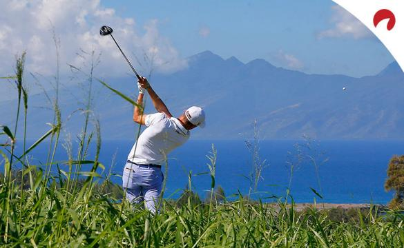 Justin Thomas tees off at the Sentry Tournament of Champions in Kapalua, Hawaii.
