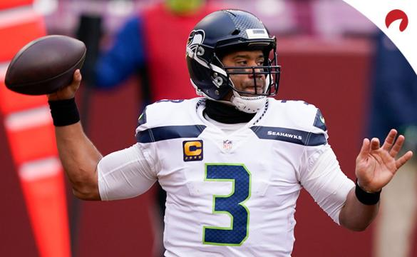 Russell Wilson of the Seattle Seahawks throws a pass against the San Francisco 49ers in Week 17.