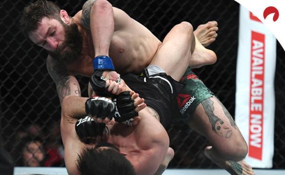 Chiesa realiza una sumisión en un combate anterior al próximo UFC Fight Night: Chiesa Vs Magny