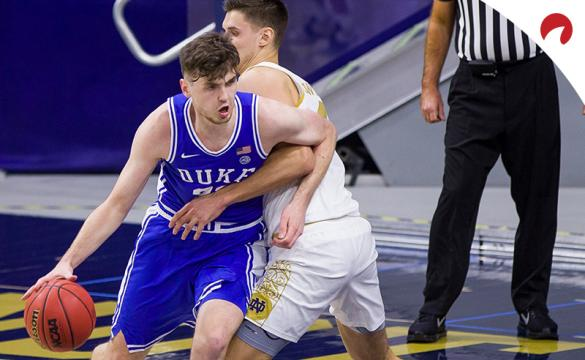 Matthew Hurt and the Duke Blue Devils are small road favorites in NCAAB odds playing the Pittsburgh Panthers on Tuesday night.