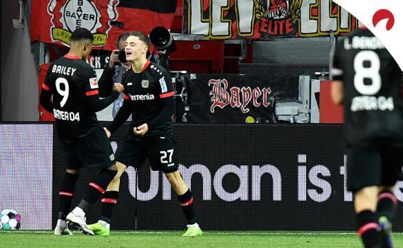 Florian Wirtz celebra un gol antes del próximo Bayer Leverkusen Vs Wolfsburgo de la Bundesliga