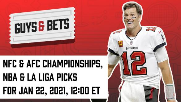 Odds Shark Guys & Bets Joe Osborne Iain MacMillan Andrew Avery NFL Playoffs Betting Odds Tips Picks Predictions NBA La Liga Tom Brady