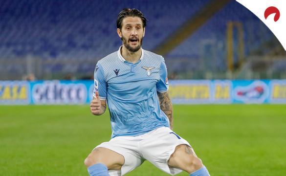 Luis Alberto celebra un gol en un partido previo al próximo Atalanta Vs Lazio de la Copa Italia 2021