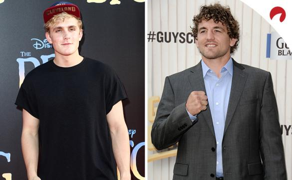Jake Paul (left) is favored in the Jake Paul vs Ben Askren Odds.