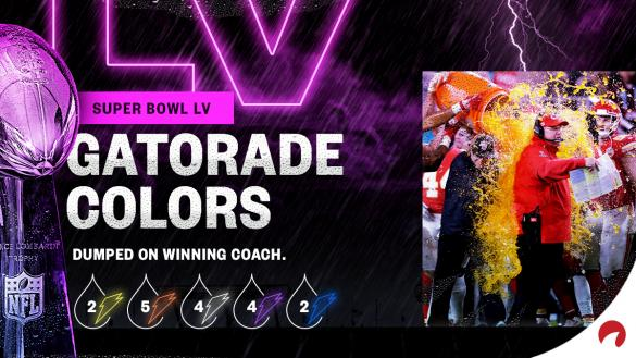 You can bet on Super Bowl Gatorade color props and check out the odds.