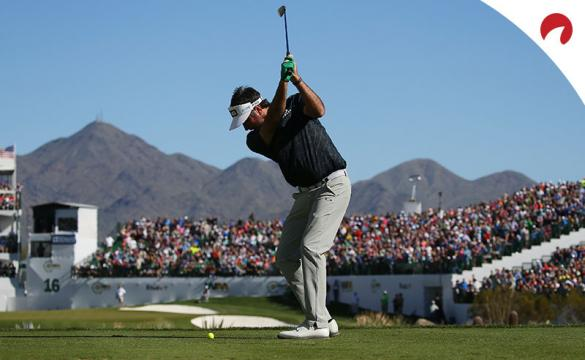 Bubba Watson hits a tee shot at the Phoenix Open. Watson is tied for 10th in 2021 Phoenix Open odds.