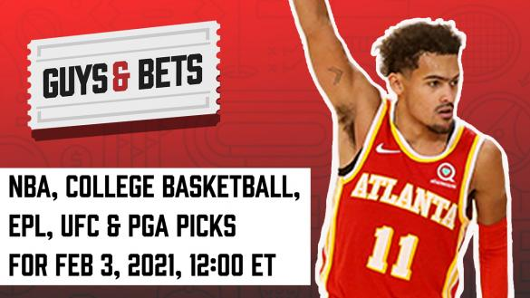 Odds Shark Guys & Bets NBA PGA UFC Premier League College Basketball Betting Odds Tips Picks Predictions Bets Joe Osborne Iain MacMillan Andrew Avery Trey Young