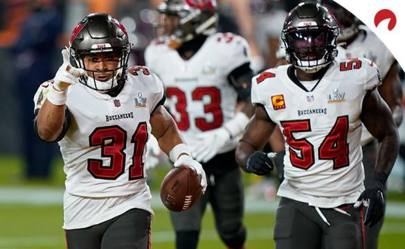 The Super Bowl 55 champion Tampa Bay Buccaneers come in fourth in odds to win Super Bowl 56.