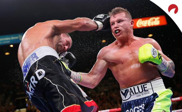 Canelo (right) is favored in the Canelo vs Yildirim odds.