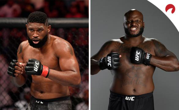 Curtis Blaydes (left) is favored over Derrick Lewis (right) in the UFC Fight Night: Blaydes vs Lewis odds.