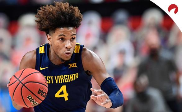 Miles McBride and the West Virginia Mountaineers are solid road favorites in NCAAB betting odds Tuesday night vs the TCU Horned Frogs.