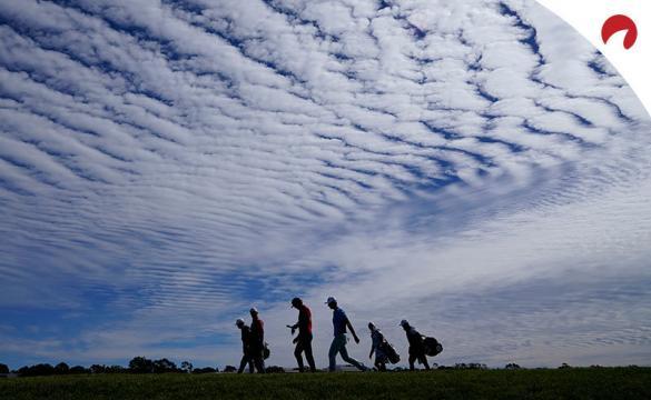 Jugadores de golf bajo un cielo azul. Cuotas para el WGC at the Concession que cuentan con Dustin Johnson como favorito.