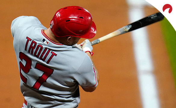 Mike Trout of the Los Angeles Angels is the favorite for MLB home run leader odds.