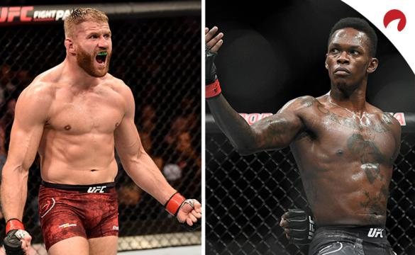 Jan Blachowicz (left) is underdog to Israel Adesanya (right) in the UFC 259 odds
