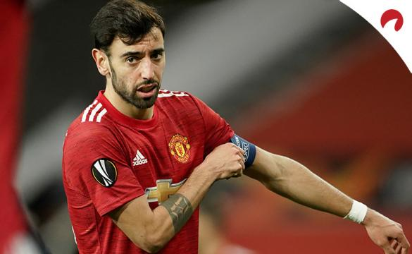 Bruno Fernandes se coloca el brazalete de capitán. Conoce las cuotas para el próximo Chelsea Vs Manchester United
