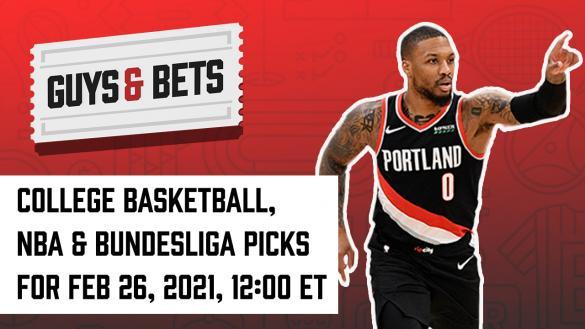 Odds Shark Guys & Bets Joe Osborne Iain MacMillan Andrew Avery NBA College Basketball Bundesliga Soccer Betting Odds Tips Picks Predictions Damian Lillard