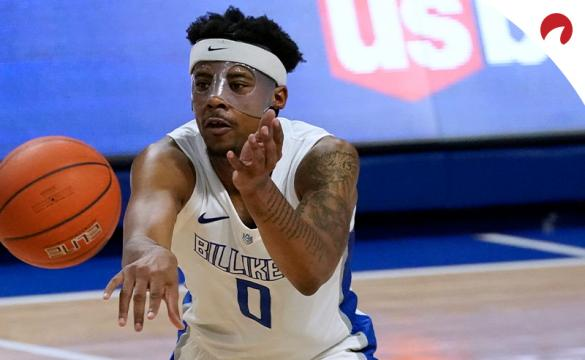 Jordan Goodwin with the Saint Louis Billikens are favored to win over Richmond.