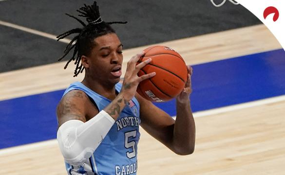 North Carolina's Armando Bacot corrals a rebound and UNC is favored over Syracuse.