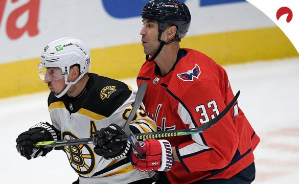 Brad Marchand and the Boston Bruins are solid moneyline favorites in NHL betting odds going into a Wednesday night clash with Zdeno Chara and the Washington Capitals.
