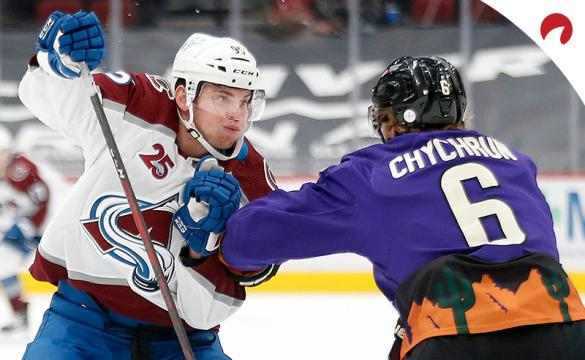 Mikko Rantanen and the Colorado Avalanche are solid moneyline favorites in NHL betting odds Monday night vs Jakob Chychrun and the Arizona Coyotes.