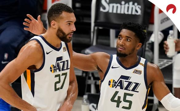 Donovan Mitchell and Rudy Gobert of the Utah Jazz were the best ATS bet of the first half of NBA season.