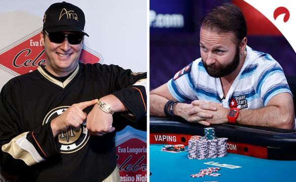 Daniel Negreanu (right) is favored in the Daniel Negreanu vs Phil Hellmuth odds