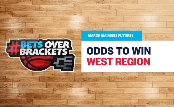 Gonzaga is huge favorites for NCAA West Region odds in March Madness.