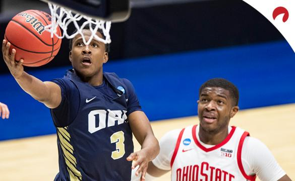 Max Abmas' Golden Eagles are underdogs in the Oral Roberts vs Florida odds.