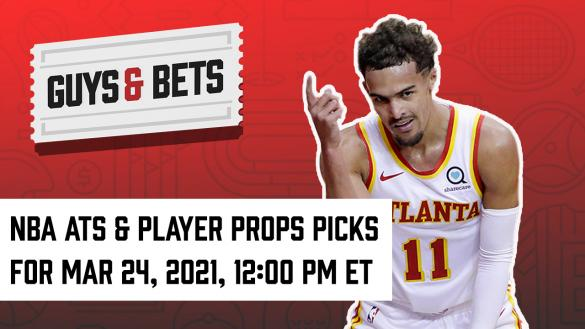 Odds Shark Guys & Bets Joe Osborne Andrew Avery NBA Betting Odds tips Picks Predictions Wagers Props Trae Young
