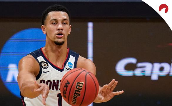 Jalen Suggs and the Gonzaga Bulldogs are big favorites over the USC Trojans.