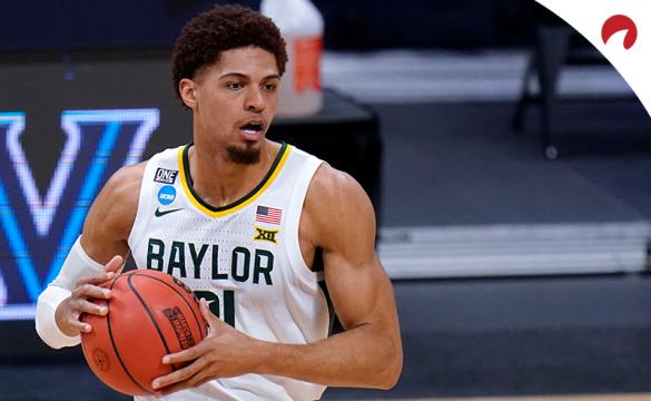 MaCio Teague and the Baylor Bears opened as 5-point favorites in March Madness betting odds for their Final Four matchup against the Houston Cougars.