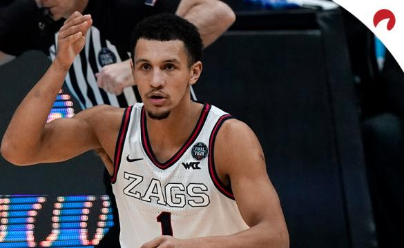 Jalen Suggs and the Gonzaga Bulldogs are small favorites over the Baylor Bears.